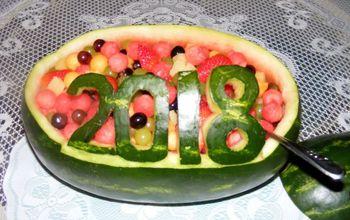 fresh watermelon centerpiece