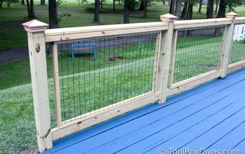 simple easy custom diy deck railings
