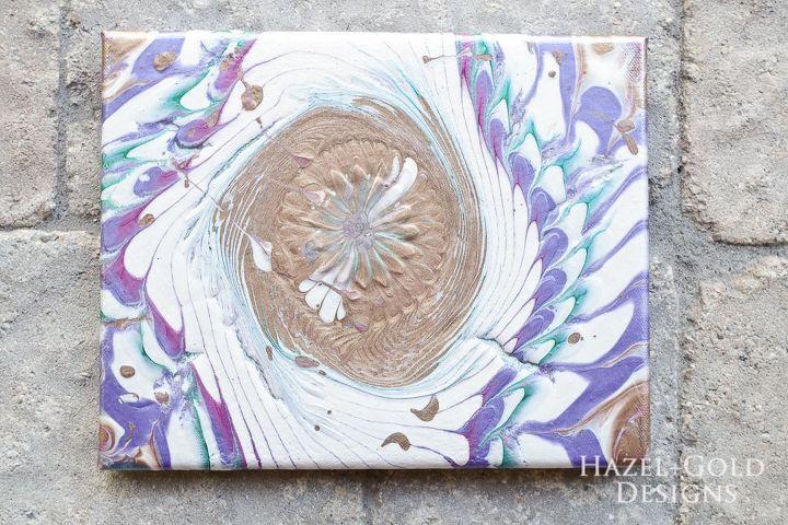 Diy Acrylic Paint Pouring Artwork Hometalk