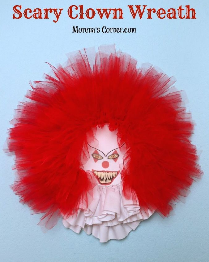 s 17 halloween decorations that ll make your neighbors giggle, Scary Clown Wreath
