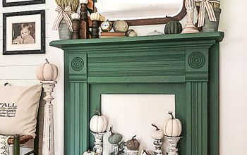 $2.99 Mantel Becomes A Show Stopping Piece In Our Living Room