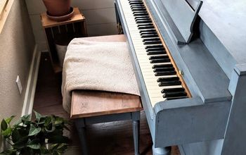 diy chalk painted piano