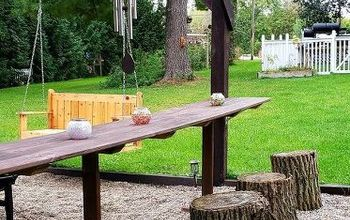pergola seating for cookouts campfires