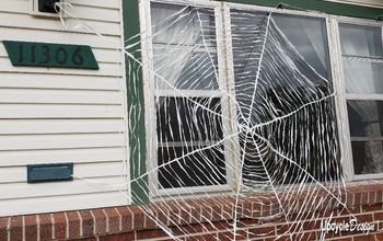 Giant Halloween Spiders Web Decoration DIY