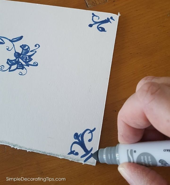 how i made faux delft tiles