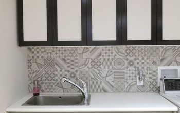 install a patterned backsplash