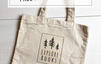 diy library tote bag free printables for iron on transfer