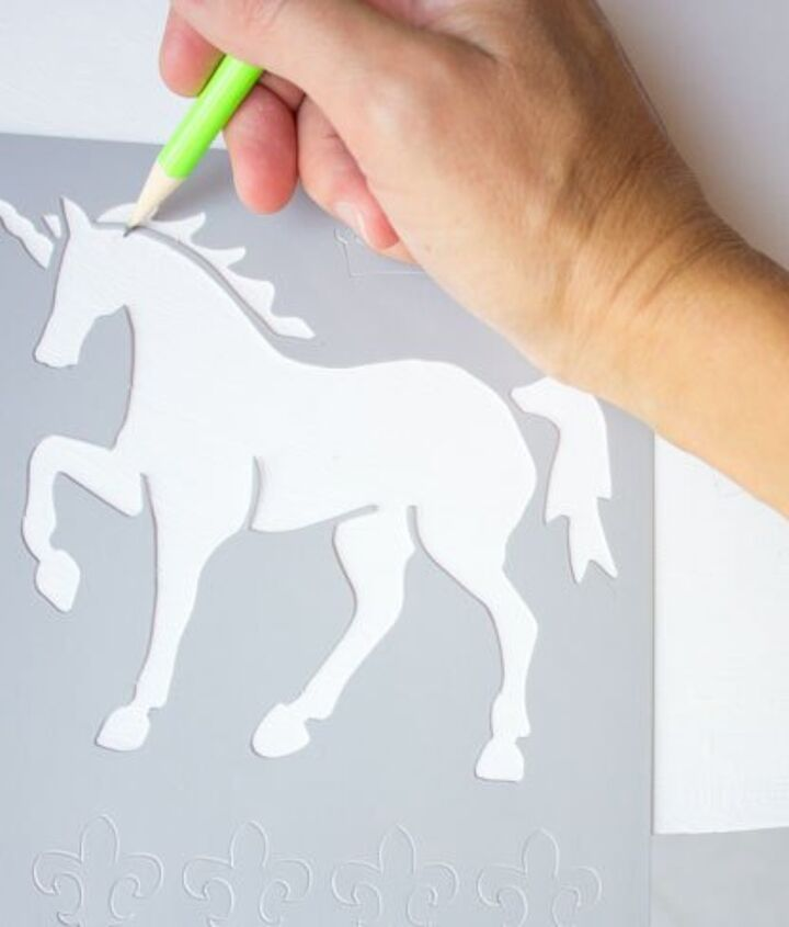 how to stencil a kids table