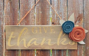DIY Rustic Farmhouse Stenciled Wooden Sign