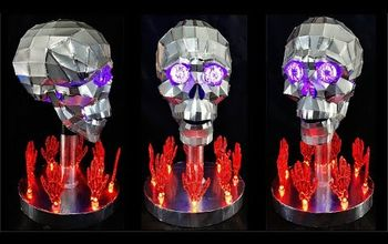 creepy aluminium skull