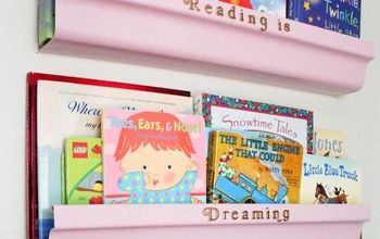 five diy rain gutter bookshelves under 10