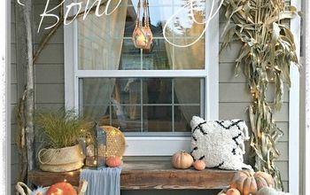 boho style fall porch
