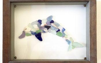 seaglass dolphin shadow box