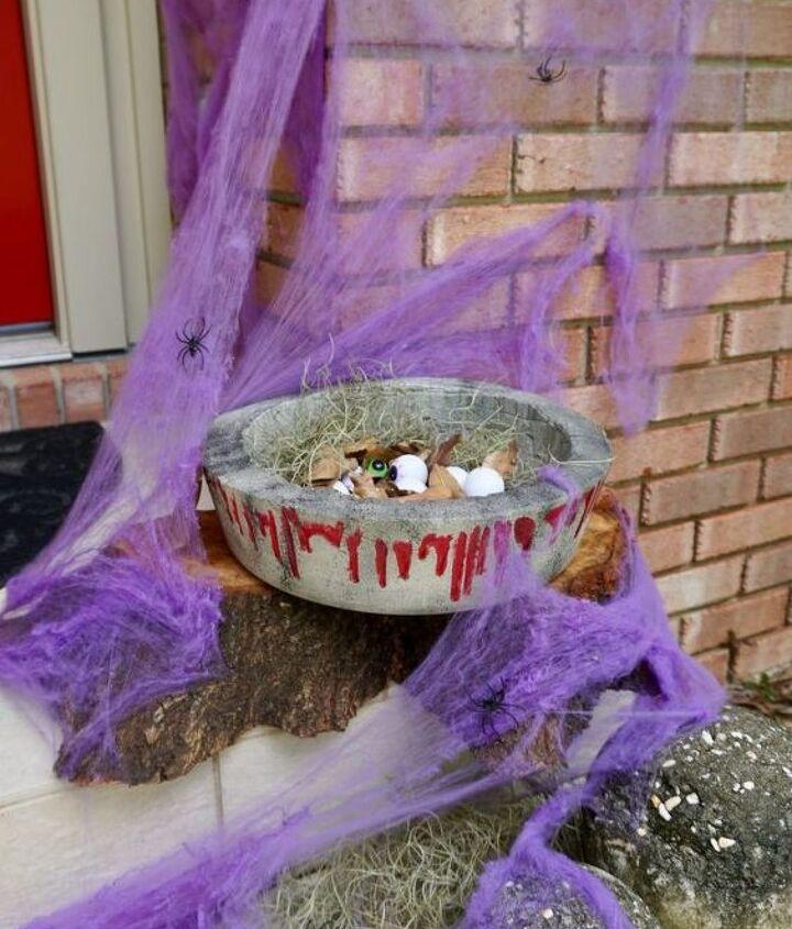 diy halloween concrete candy bowl