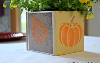 fall tile planter