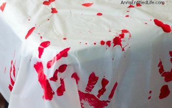 Easy Halloween Decor: Blood Clot Tablecloth