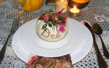 mini pumpkin place card take homes