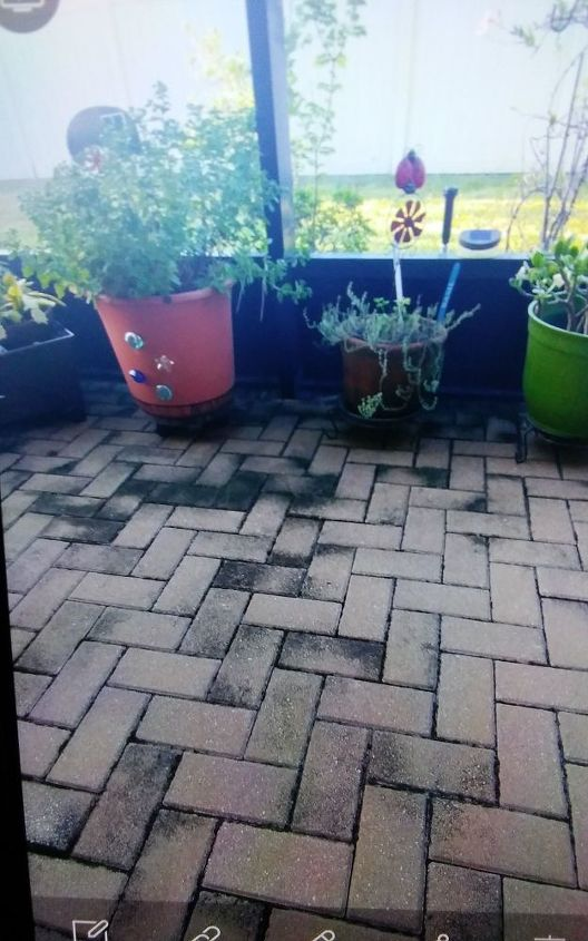 How do I clean brick pavers on an enclosed screened patio