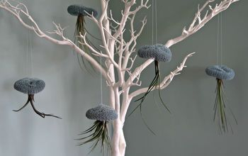 how to make adorable air plant and wire jellyfish