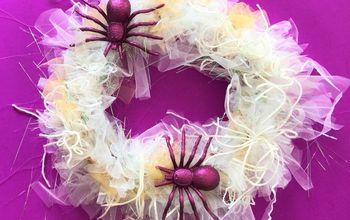 sparkly spiderweb wreath
