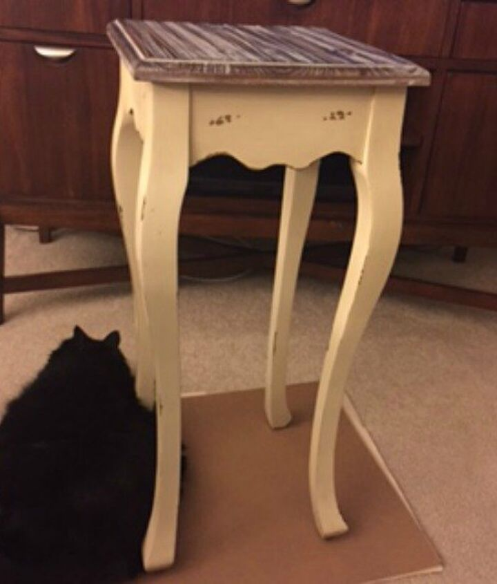 greek key side table makeover