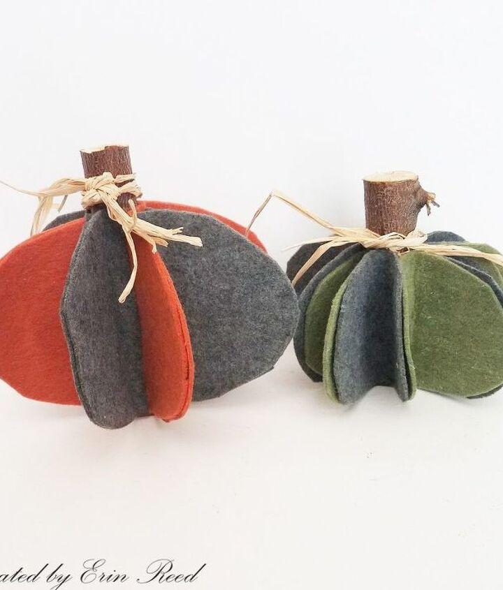 rustic felt pumpkins