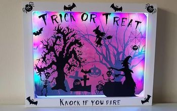 front door halloween scene light box, Front Door Halloween Scene Light Box