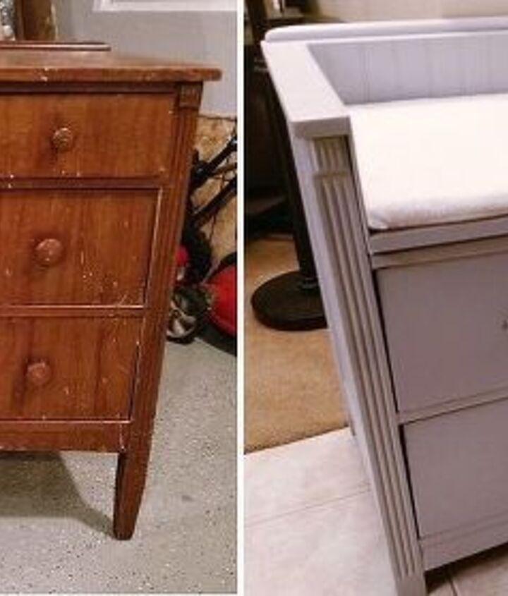 beat up dresser to stylish dresser bench