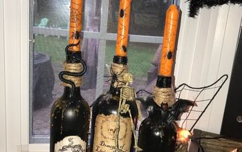 halloween wine bottles decor