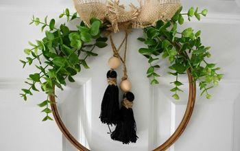 diy fall tassel hoop wreath