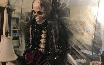 dollar tree halloween skeleton bride wreath