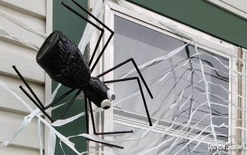 upcycled plastic bottle spider halloween decoration tutorial
