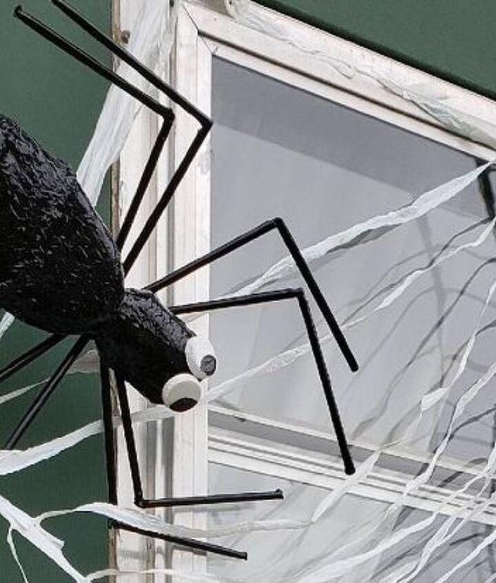 upcycled plastic bottle spider halloween decoration tutorial