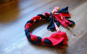 diy dog toy made from t shirts