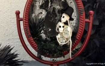 how to make a ghost in a mirror fun halloween decor