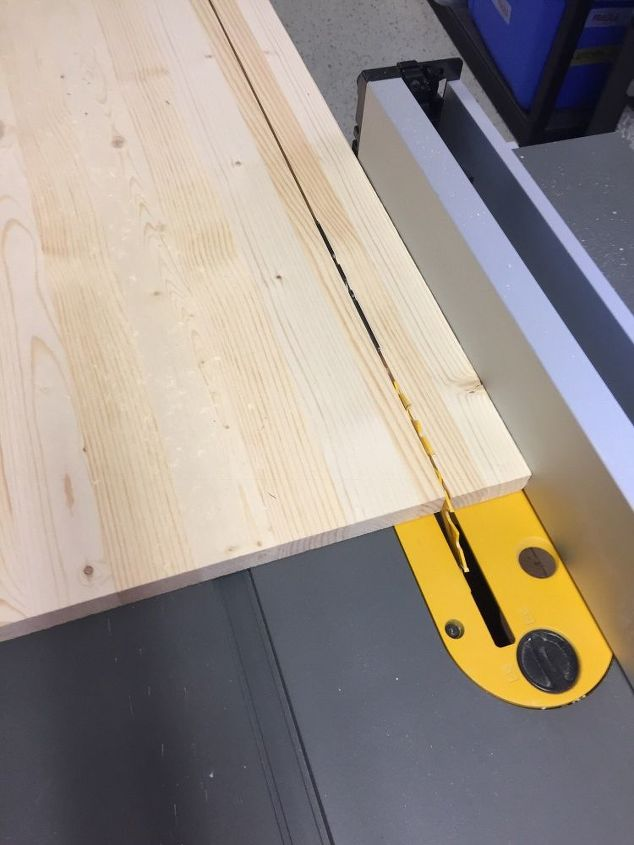 """Ripped the 16"""" down to 14""""  on table saw"""