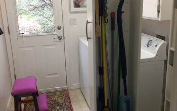 Roll Out Broom Storage and Small Update to My Laundry Room.