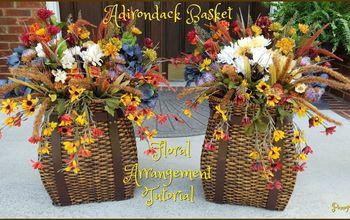 adirondack floral basket arrangement tutorial, Adirondack Basket Floral Arrangement Tutorial
