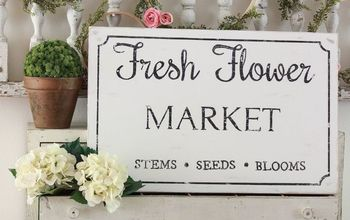 fresh flower market sign diy
