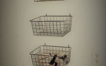 use wire baskets in your garage for an organized winter