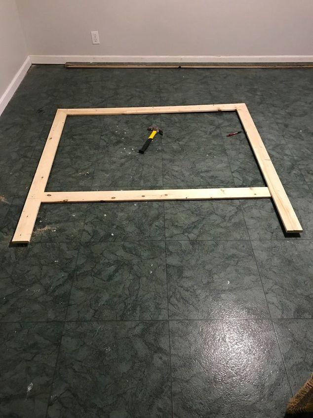 diy headboard build and finish