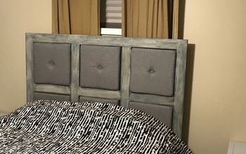 diy headboard build and finish