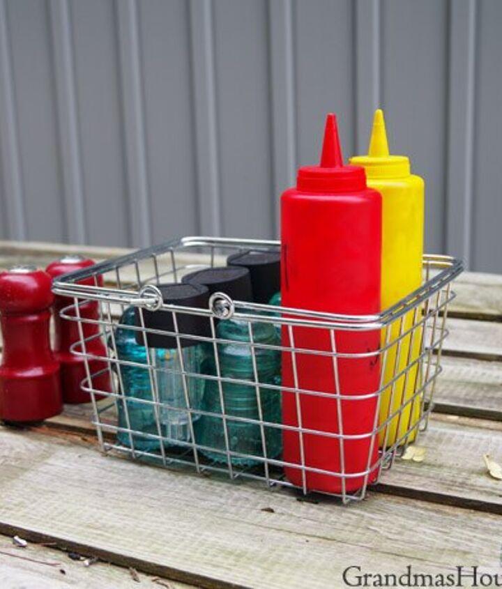 solar light basket using insulators for hanging or table setting