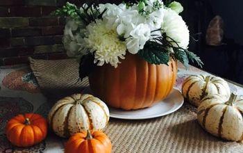 Carved Pumpkin Centerpiece