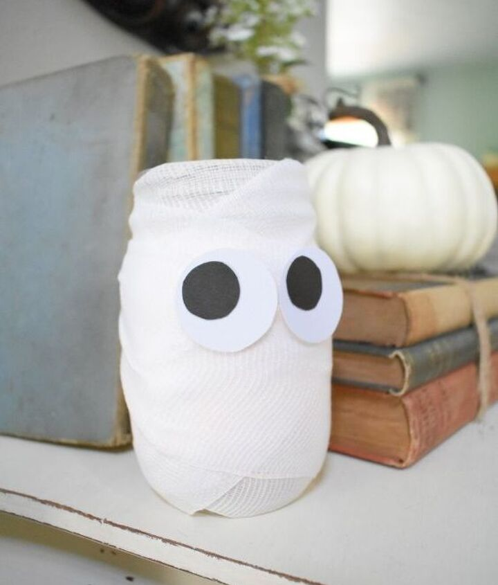 cute simple halloween mummy jars