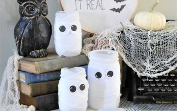 cute simple halloween mummy jars