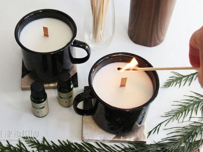 woodsy scented campfire candles