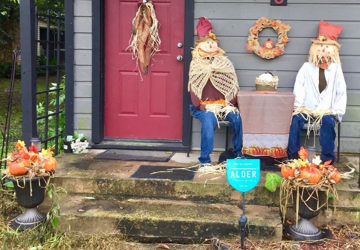 fall front porch part 2, All done excuse the photo bad weather