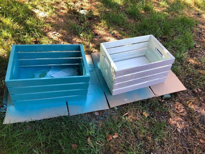 Excellent Wooden Crates As Fall Planters Front Door Porch Door Handles Collection Olytizonderlifede