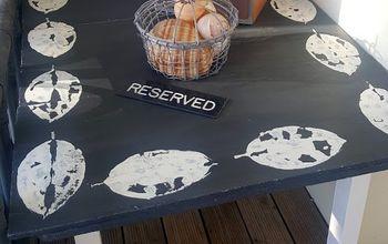 deck side table makeover